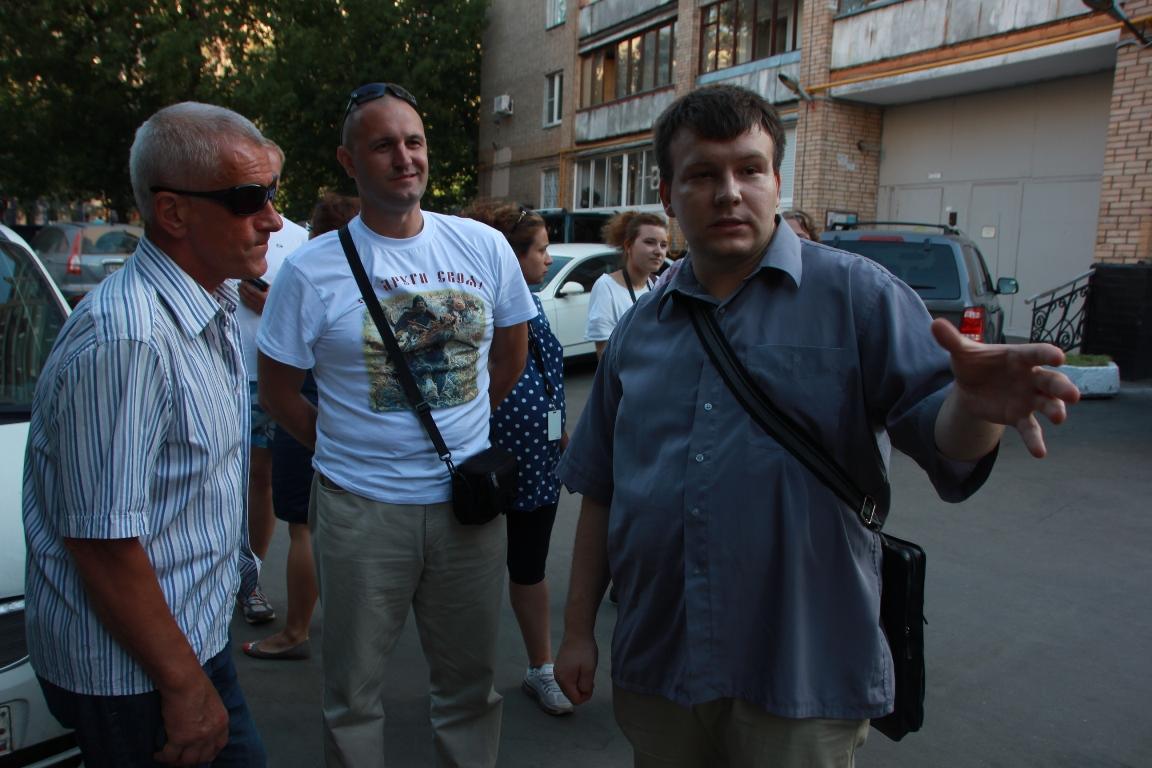 Николай Кавказский с жителями
