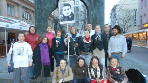 Музыкальный пикет за освобождение Николая Кавказского на Старом Арбате. 18 апреля 2013 года.