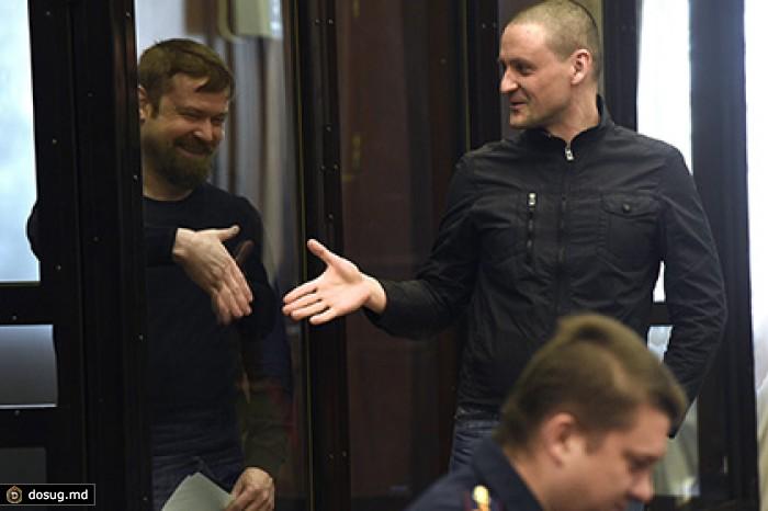 Леонид Развозжаев и Сергей Удальцов. Фото: Глеб Щелкунов / «Коммерсантъ»